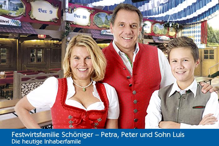 Festwirtsfamilie Schöniger - Petra, Peter und Sohn Luis - die heutige Inhaberfamilie