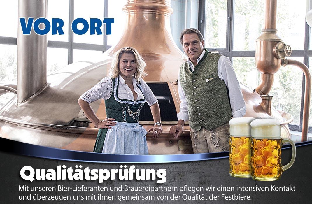 Qualitäts und Reifegrad testen wir mit unseren Braureipartnern, für das beste Festbier in der Festhalle Bayernland München und auf weiteren Volksfesten