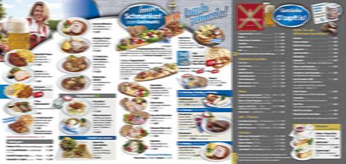 Speisenkarte Nördlinger Mess 2021 in der Festhalle Bayernland in Nördlingen