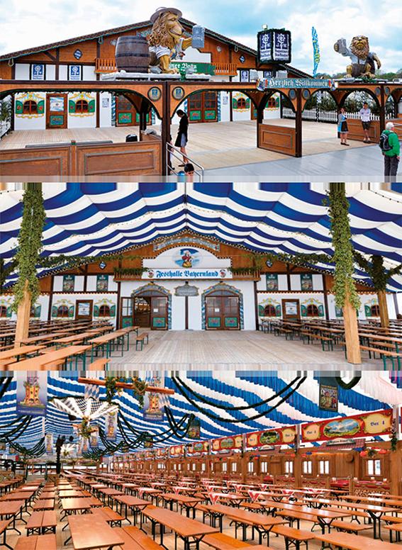 Festzelt Innen - Festhalle Bayernland 2021