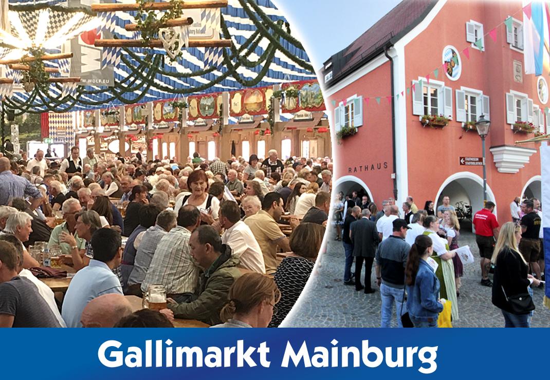 Gallimarkt Mainburg 2021 mit der Festhalle Bayernland - Festwirtsfamilie Schöniger