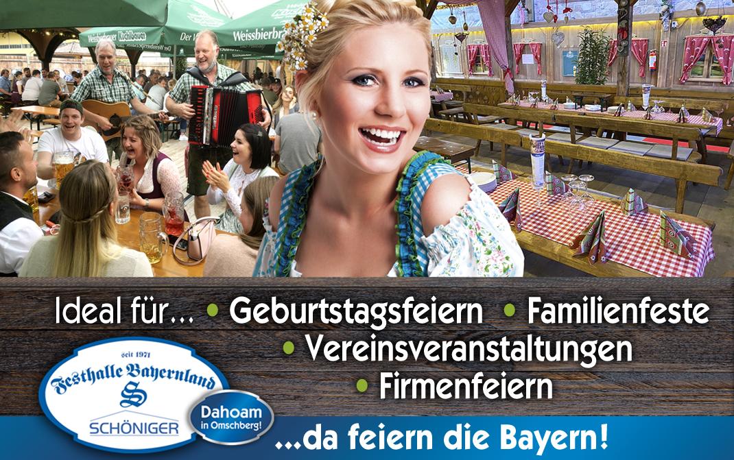Ideal für Geburtstagsfeiern, Familienfeste, Vereinsveranstaltungen, Firmenfeiern - Festhalle Bayernland Abensberg 2021
