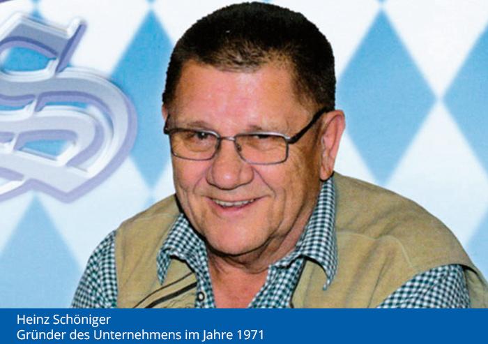 Heinz Schöniger - Gründer der Festhalle Bayernland 1971
