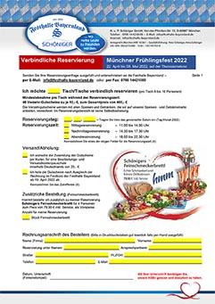 Reservierungsbedingungen Festzelt - Festhalle Bayernland